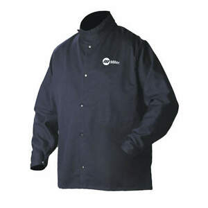 Miller Electric 244750 Welding Jacket navy cotton nylon m