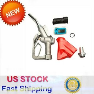 New Fuel Gasoline Diesel Petrol Oil Delivery Gun Nozzle Dispenser Flow Meter