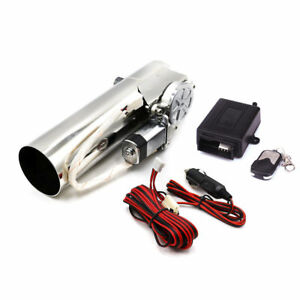 3 Inch 76mm Exhaust Pipe Electric I Pipe Electrical Cutout With Remote Control
