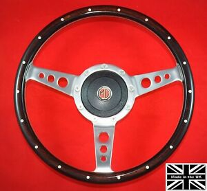 13 Riveted Wood Steering Wheel Hub Fits Mgb Gt 1976 And Later