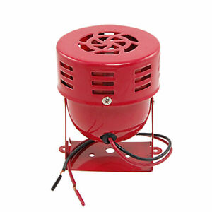 Dc 24v Metal Red Housing Siren Horn Alarm 114db For Truck Car