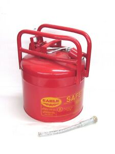 New Eagle 5 gallon Type Ii Safety Gas Can W Flex Spout 1215