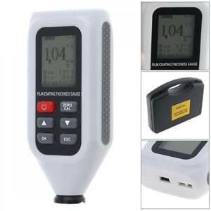 Lcd Digital Handheld Thickness Tester Coating Thickness Gauge Meter W backlight