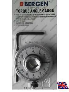 Torque Angle Gauge 1 2 Drive Wrench Bergen Professional Quality New