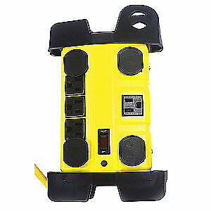 Power First Surge Protector Outlet Strip yellow 52ny62