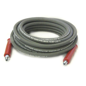 Suttner B3v58101 100 Gray 6000 Psi 3 8 Pressure Washer Hose Mnpt X M Swivel