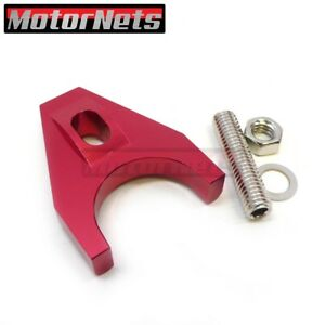 Red Billetaluminum Distributor Clamp Hold Down Small Big Block Sbc Bbc Chevy Hei