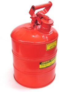 New Justrite Mfg 3 gallon Type I Safety Gas Can 10701 W Screen
