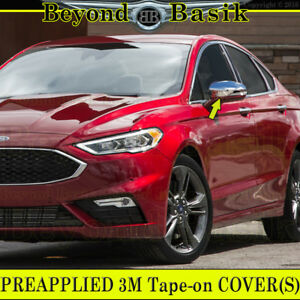 2013 2019 Ford Fusion Chrome Mirror Covers Overlays W Signal Hole