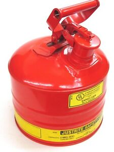 New Justrite Mfg 2 gallon Type I Safety Gas Can 10501 W Screen