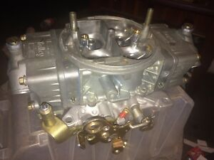 Holley 750cfm Double Pumper 4 Corner Idle Ready 2 Run Like New