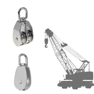 Double Single Pulley Swivel Sheave Lifting Wheel Rope Tackle Block M75