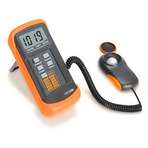 Digital Illuminance light Meter Lx1330b 0 200 000 Lux Luxmeter Black orange G8r7