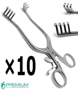 10 Weitlaner Retractor 7 Blunt 3x4 Prongs Surgical Veterinary Instruments