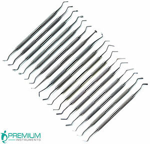 Dental Composite Plastic Amalgam Filling Double Ended Instruments New Set Of 17