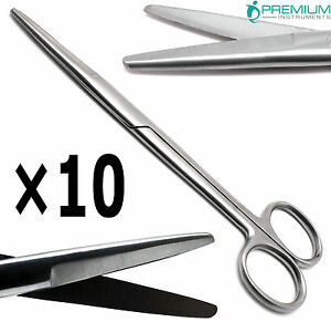 10 Surgical Scissors Supercut 6 75 Blunt blunt Mayo Straight Dissecting Tools