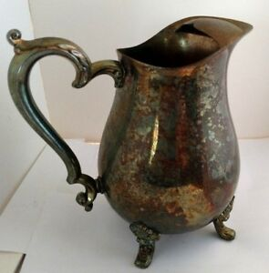 Silver Pitcher Natural Patina Antique
