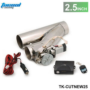 Universal 2 5 Exhaust Catback Turbo Electric E Cutout Y Pipe With Remote
