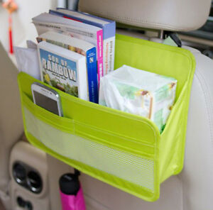Universal Car Seat Back Organizer Book Tissue Box Phone Storage Bag Space Saver