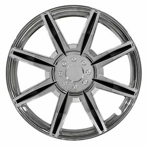 Vw Hubcaps 15 Inch 8 Spoke With Black Inserts Toyota Ford Plastic Wheel Cover