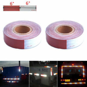 2x Dot c2 Conspicuity Tape Car Truck Trailer Camper Safety Tape 2 x 150ft