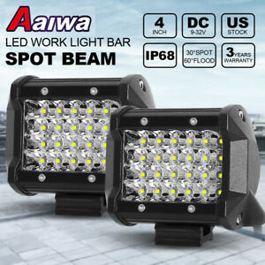 Tri row 22inch Cree Led Light Bar Spot Flood Combo Suv Jeep Atv Ute 4wd Offroad