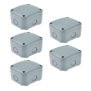 5 Pack Enclosure Junction Box Ip66 Waterproof Weatherproof 86 74 62mm New
