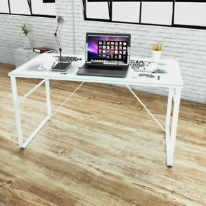 Modern Computer Desk Rectangular Study Office Laptop Glass Table W Map Printing