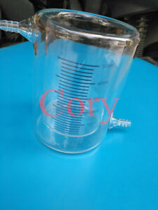 1pcs Double Layer Glass Jacketed Beaker 50 500ml For Photocatalytic Experiment