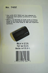 Otc 7432 Gm Tbi Adapter Swtraight Fitting M16 X 1 5 Female Fuel Injection Usa