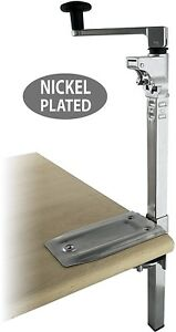 Boj Commercial Grade Manual Can Opener Nickel Plated Heavy Duty Table Mount 19