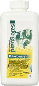 Safe guard Dewormer Suspension For Beef Dairy Cattle And Goats 1000ml