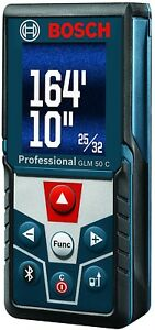 Bosch Glm 50 C Bluetooth Enabled Laser Distance Measurer With Color Backlit