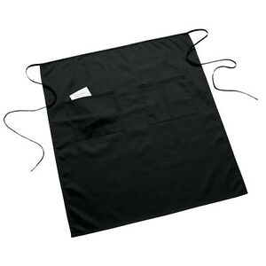 6 New Waiter Server Full Bistro 2 Pocket Waist Apron Black Free Ship