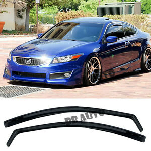 For 08 12 Honda Accord 2dr Coupe In channel Side Window Visors Guards Jdm