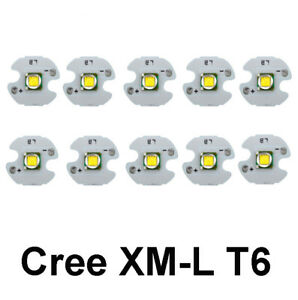 10pcs Cree Xm l T6 Led Chip High Power 10w Cree Led Bead Emitter With 16mm Star