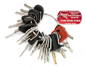 Heavy Equipment Key Set Construction Ignition 24 Key Ring With Specific Machines