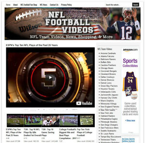Nfl Football Video Blog Website Business For Sale W Auto Updating Content