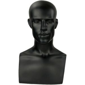 Mn 521 Black Male Mannequin Abstract Head Form Display With Bust