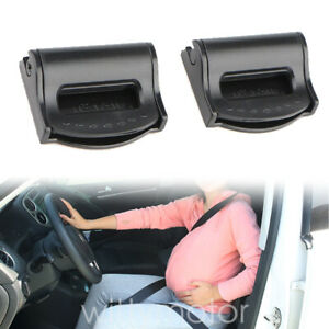 2pcs Car Seat Belt Adjuster Clips Auto Buckle Strap Stopper Clamps Safe Comfort