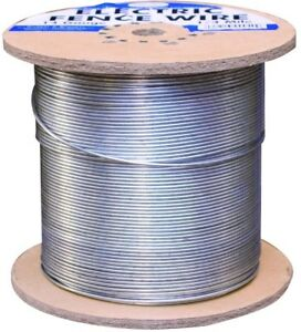 Galvanized Electric Fence Wire 14 gauge Cattle Cows Goats Farm Grazing Fencing