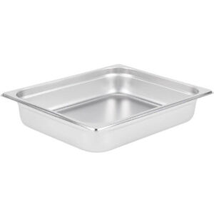 1 2 Size Stainless Steel 2 1 2 Deep 4 Pack Chafing Dish Chafer Pan Half Pans