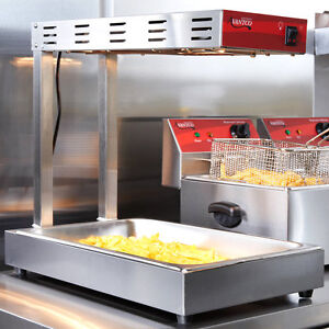 New Infrared French Fry Food Warmer Deep Fryer Dump Station Heat Lamp Commercial
