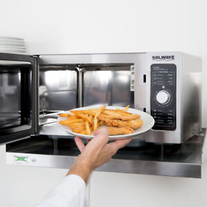 Solwave Stainless Steel Commercial Microwave With Dial Control 120v 1000w