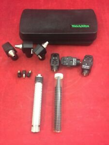 Welch Allyn Diagnostic Otoscope Ophthalmoscope Set 6 Heads 1 Handle More