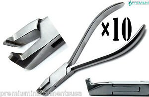 10 Dental Premium Distal Safety Hold Tc Tip Pliers Wire Cutting Orthodontics