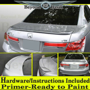 2008 2009 2010 2011 2012 Honda Accord 4dr Factory 11 12 Style Lip Spoiler Primer