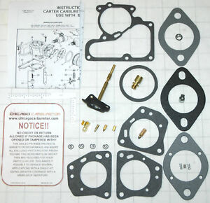 1968 82 Carb Kit Carter 1 Barrel Yf Ford Truck 6 Cyl Engine 170 240 300 New