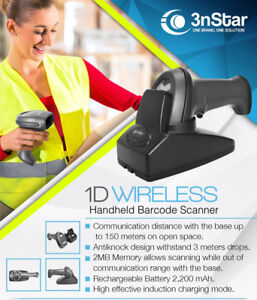 3nstar 1d Cordless Barcode Scanner Sc305 Pos Retail Pcamerica Quickbooks New