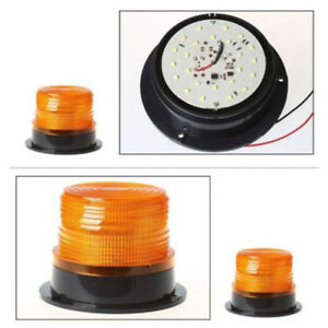 Car Led Bus Beacon Strobe Emergency Warning Alarm Flash Light Amber